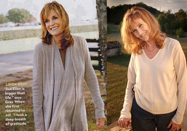 "One of these is actress Linda Gray, who played Sue Ellen Ewing on ""Dallas."" The other is my wife Abby. See if you can tell which one is which!"