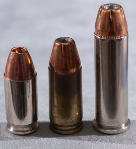 The .380 ACP vs the 9mm Parabellum vs the .38 Special; all cartridges in 9mm diameter, all capable of ending the life of another human being.
