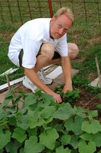 This is your humble host tending to his garden a couple of years ago.