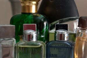 This is a cluster of cologne my wife gave me over the years. At the moment, I have them all out on the counter so I'll remember to use them, but soon the clutter will annoy me and I'll put them away in the cabinet. Then the cycle repeats.