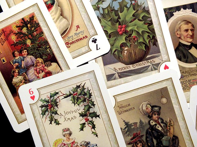 Maybe the Christmas playing cards distracted me more that I realized.
