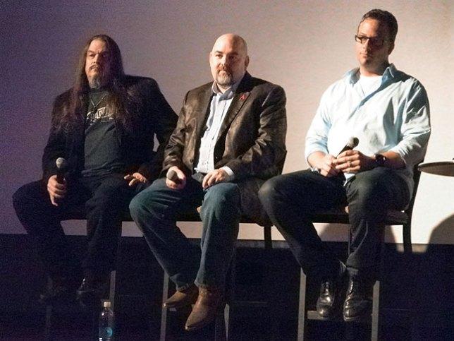 The Unholy Trinity: AronRa, Matt Dillahunty and Seth Andrews.