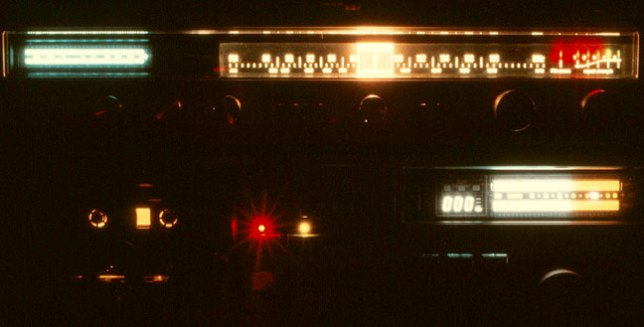 This was one of my earliest stereo stacks, circa 1981. Note the VU meters on both the receiver, top, and the tape deck. Now imagine the crescendo of Wish You Were Here ringing through my headphones at rock concert volume levels.