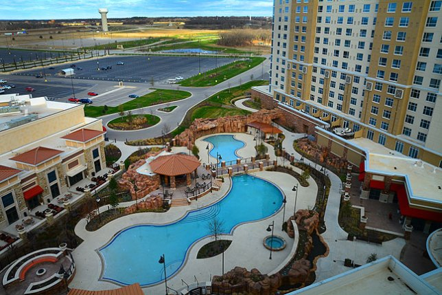 Our room was on the twelfth floor, which afforded views of the countryside. Winstar is in Thackervile, Oklahoma, just one mile north of the Red River and the Texas border.