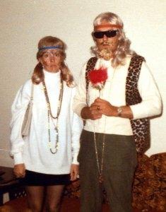 Joe and Sarah Jo weren't really hippies; it was Halloween 1972.