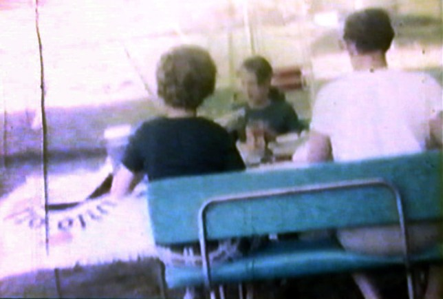 This blurry frame grab from an 8mm transferred to VHS video cassette transferred to DVD contains a treasure trove of Barron family insights.