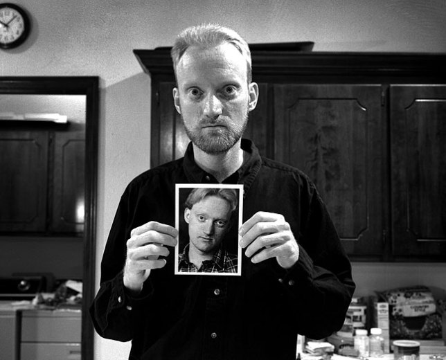 1997: holding a selfie from 1981
