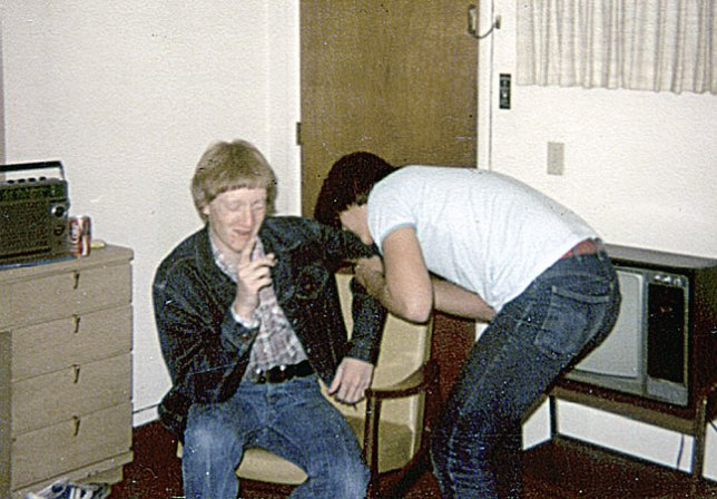 1979: this is from a speech trip, and I have no idea what we are doing