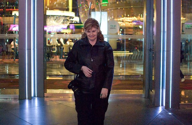 Abby poses for me at the front entrance to The Cosmopolitan in Las Vegas.