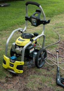 This is our new power washer. It is full-featured and powerful, and will clean pretty much anything.
