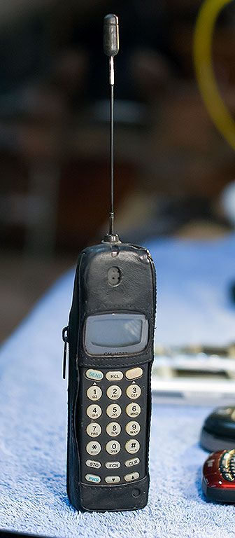 My first cell phone was this analog Sony. It didn't have a camera and couldn't send text.