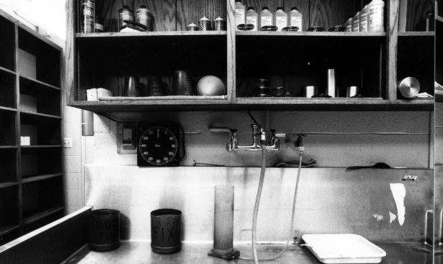 Though I kept it well organized and efficient, my office/darkroom at The Ada Evening News was as stark and bleak as my life was during that period.