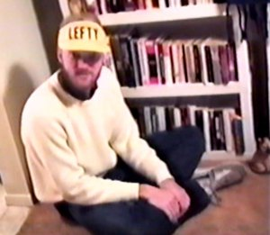 This is a frame from a video of me in January 1988, made by my girlfriend at the time. She loved that sweater on me.