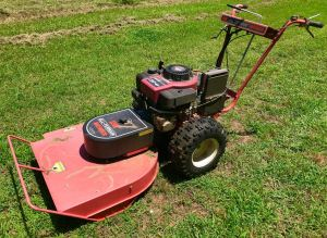 "My old DR All-Terrain Mower sits in the yard today. I fire it up when I need to mow in ""beast mode."""