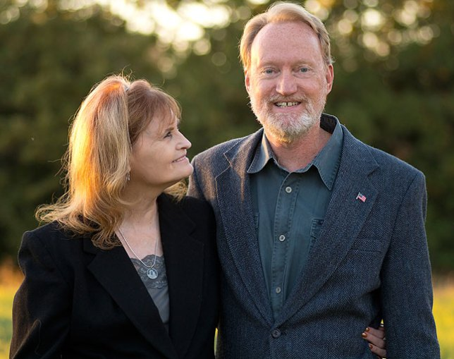 Abby and Richard pose for a tenth anniversary portrait at their home in Byng, Oklahoma, October 2014.