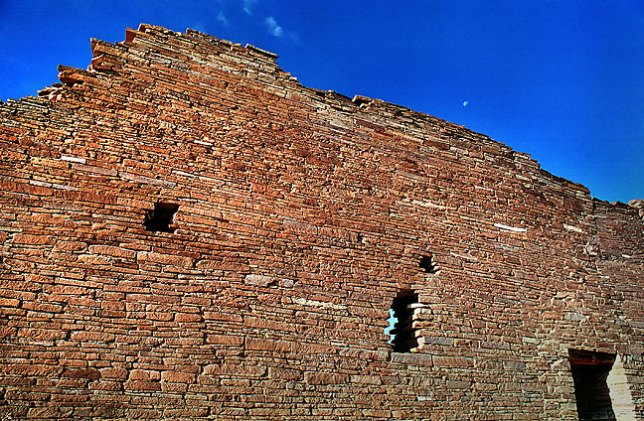 Rear wall of Pueblo Bonita, Chaco
