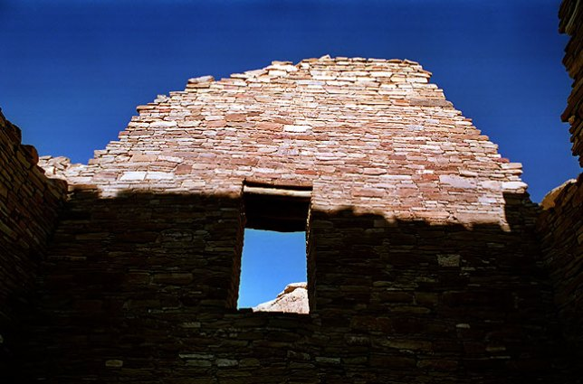 Window in Shadow, Afternoon, Pueblo Bonita, Chaco
