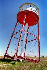 The Famous Leaning Tower near Groom, Texas