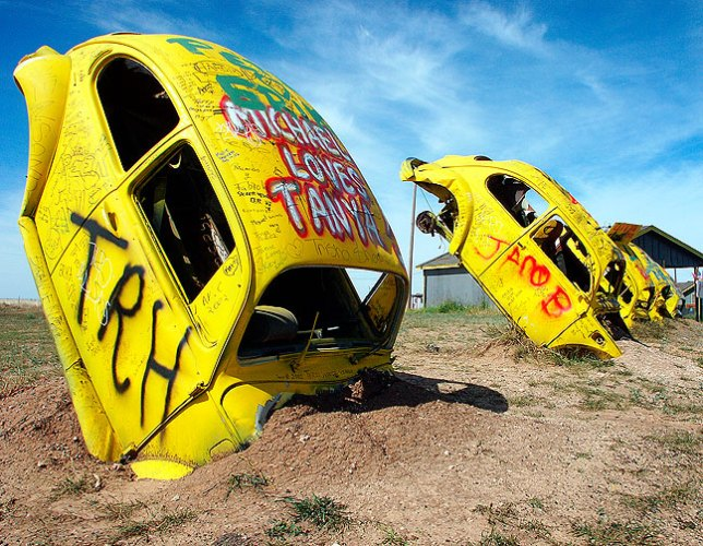 Our first stop was The Bug Ranch, a little-known attempt to copy the famous Cadillac Ranch.