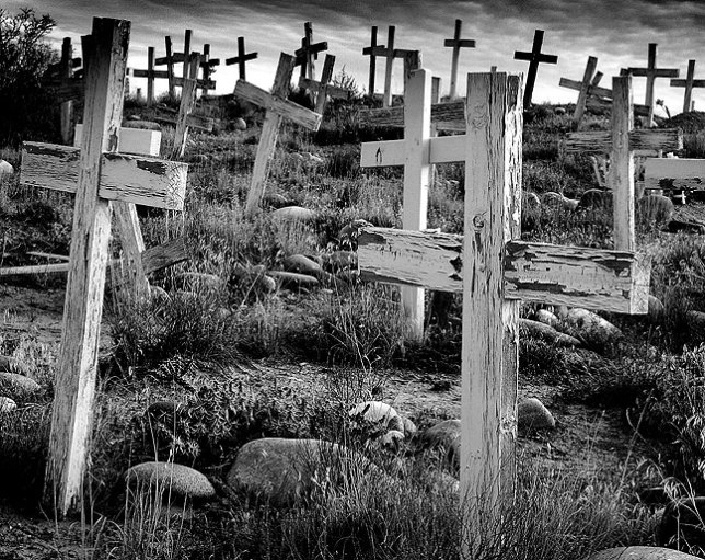 We spotted this mission graveyard south of Farmington, New Mexico. I consider this one of my most successful photographs from the American southwest.