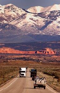 U. S. 191 near Monticello, Utah