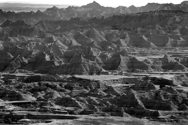 Pinnacles and Haze, Door Trail, Badlands
