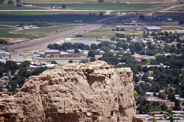 The city of Scottsbluff is visible from Scott's Bluff National Monument.