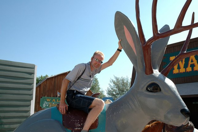 Abby and I traded places and I took a turn on the Jackalope.