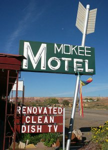 The Mokee Motel is in the small southeastern Utah town called Bluff.