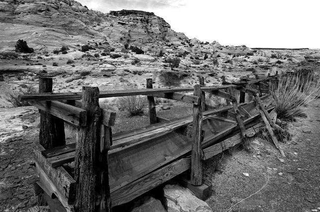 As the sky got more grey and I ran across this abandoned ranch equipment, I decided to shoot in black-and-white.