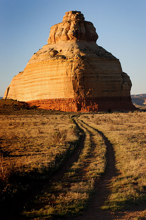 I stopped to photograph an old favorite, Church Rock, as sunset approached. This feature is close to the highway between Moab and Monticello.