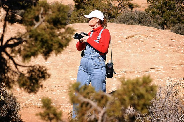 Abby photographs Muley Point, Utah.