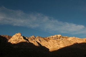 Clouds and cliffs, Guadalupe Mountains.