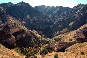 Made from the Tejas trail, this image emphasizes the rugged majesty of the Guadalupe Mountains.