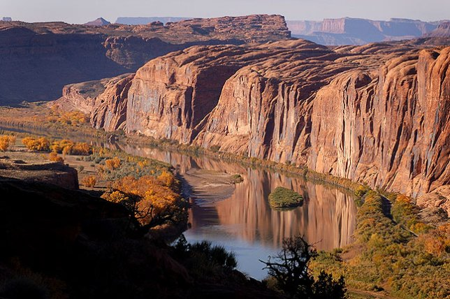 Colorado River viewed from the Moab Rim, Moab, Utah