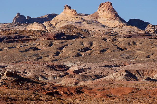The San Rafael Reef forms the eastern escarpment of the San Rafael Swell.