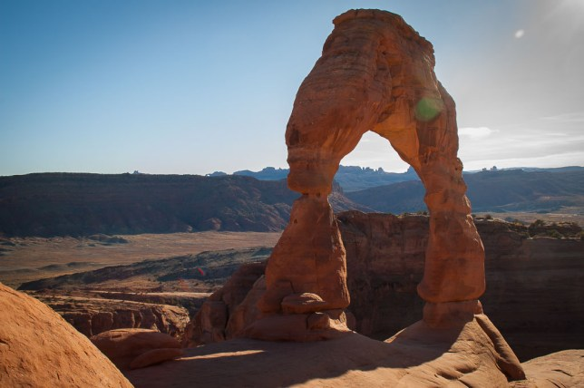 This is one of Abby's images of Delicate Arch.