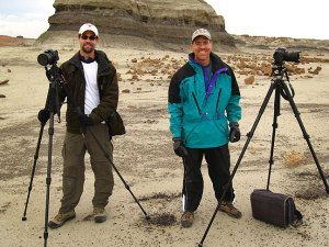 Bisti photographers Chris and Steve pose for me in the heart of the Bisti Wilderness.