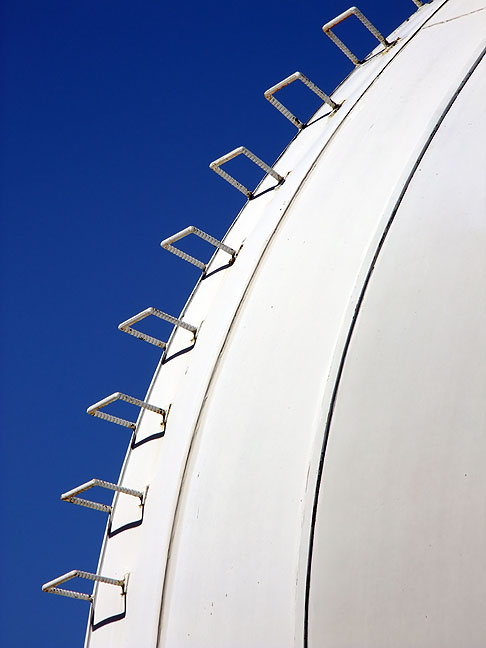 Steps leading up the Hilltop Dome telescope facility.