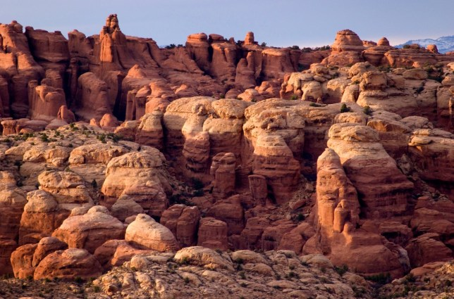 Here is another frame of The Fiery Furnace as evening approaches.