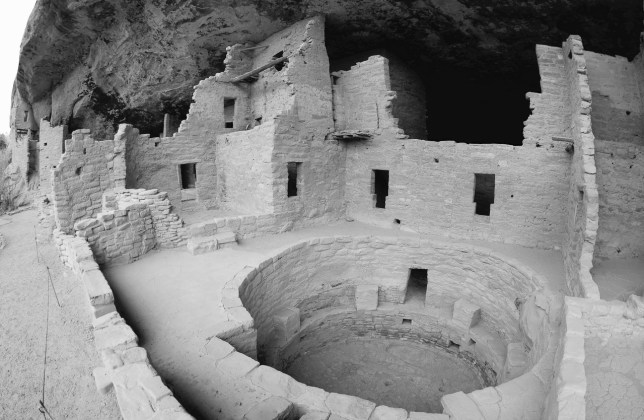 With subdued light, I found the cliff dwellings at Mesa Verde were rendered more compelling in black-and-white.