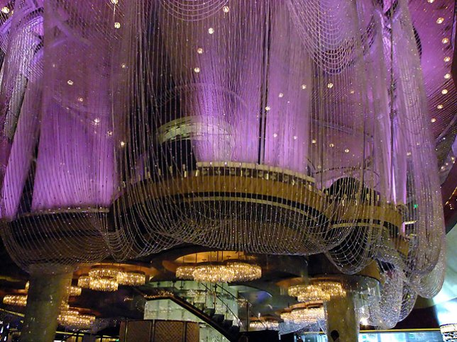 This is a bar at The Cosmopolitan called The Chandelier.