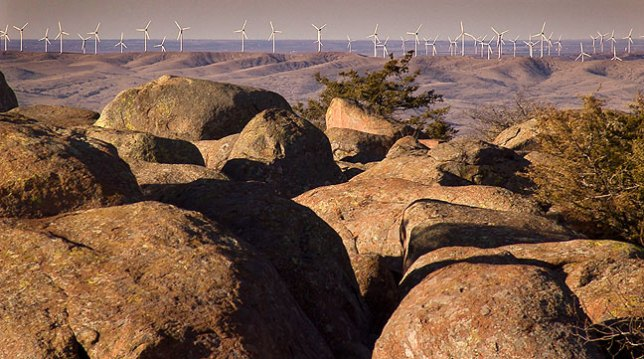Blue Canyon Wind Farm Viewed from Mount Scott Summit