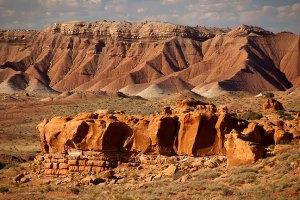 The desert around Hanksville, Utah is complex and visually interesting.