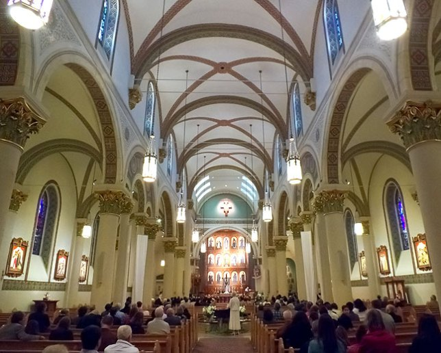 The Cathedral Basilica of St. Francis of Assisi in Santa Fe was an elegant place to spend Easter morning.