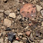 In the parking lot of the Bisti Wilderness, as I was silently making lunch without another human being anywhere in sight, I looked down to see this penny.