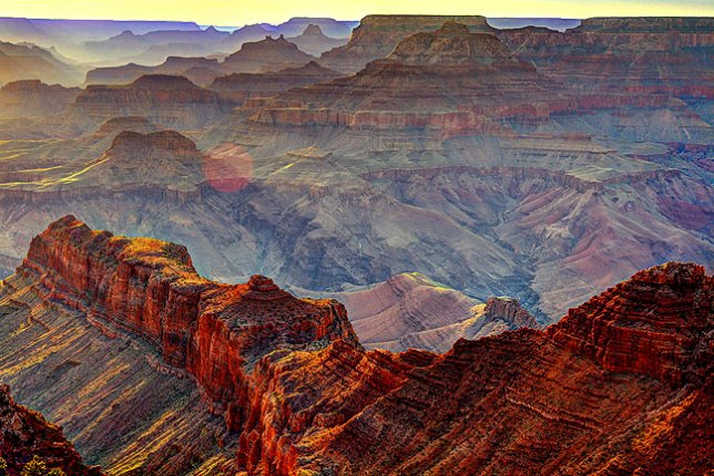 The depth, the color, the complexity of the Grand Canyon comes out in this Navajo Point exposure.