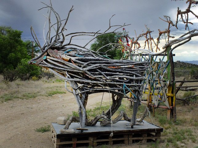 I have to admit that a caribou made from sticks is pretty neat.