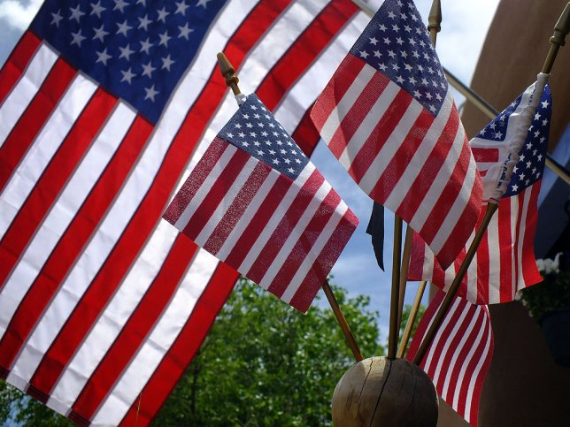I photographed these flags at The Casanova Restaurant in Pecos, New Mexico.