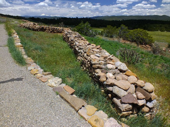 The trail at Pecos is paved, easy to walk, and follows a series of ruins like these.